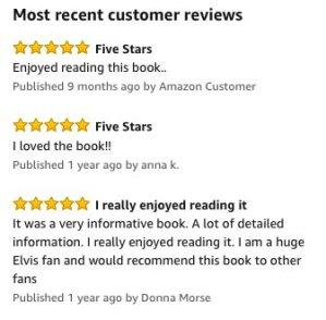 Elvis book reviews