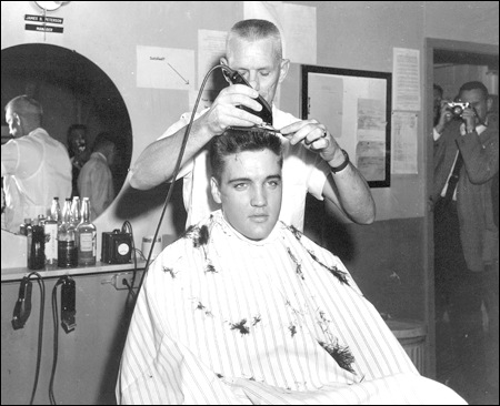 elvis army haircut